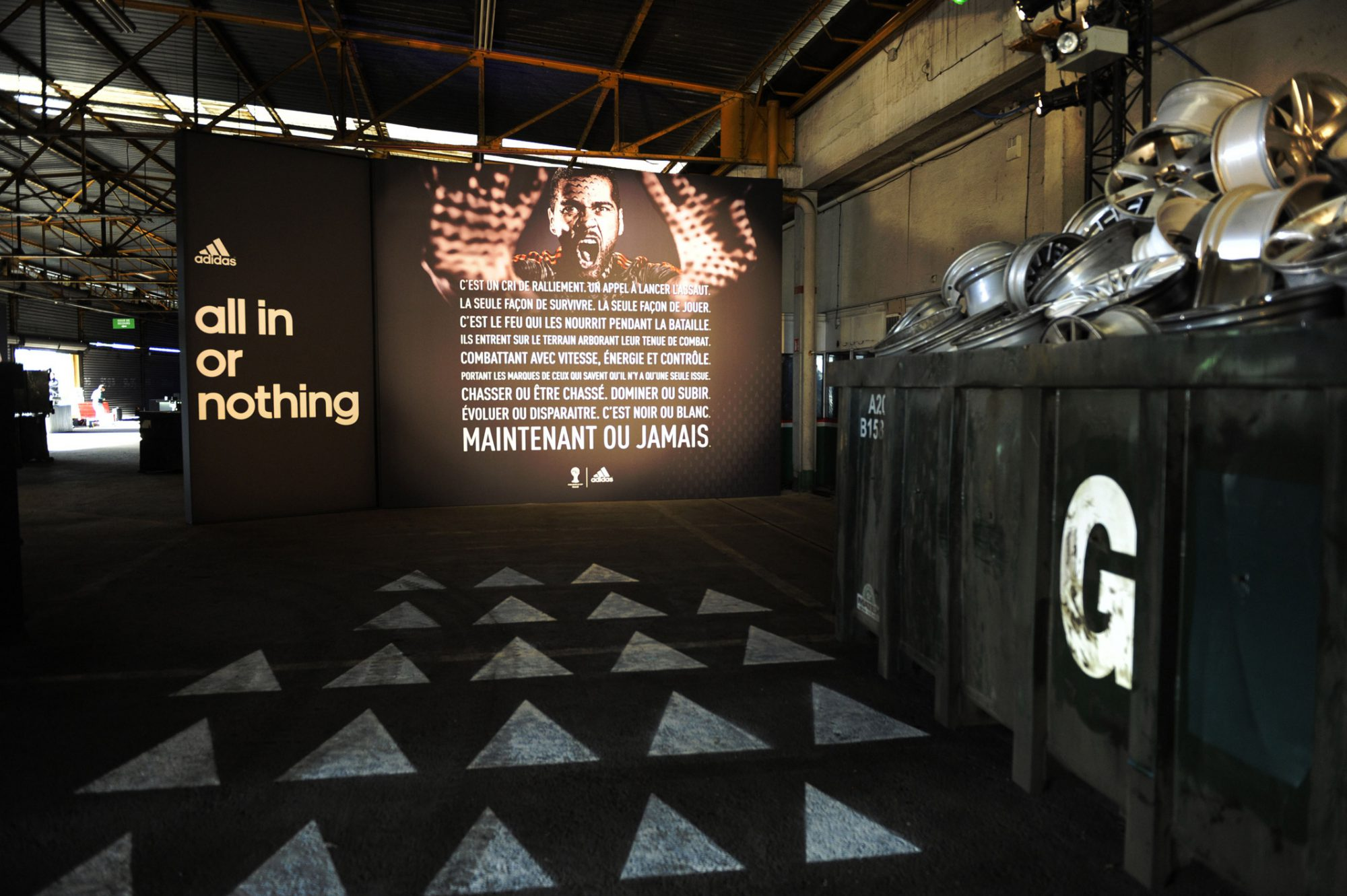 Silla Anfibio Carnicero  all in or nothing ›› party for adidas - scénographes d'espaces inspirants
